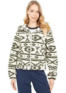 Chaser Wanderlust Polar Fleece Blouson Sleeve Zip-Up Hoodie Jacket
