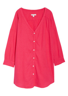Chelsea28 Button-Up Cover Up
