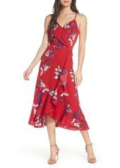 Chelsea28 Faux Wrap Floral Midi Dress