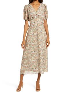 Chelsea28 Floral Button Front Maxi Dress
