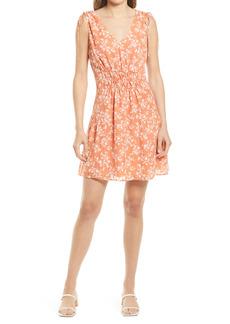 Chelsea28 Floral Tie Shoulder Dress