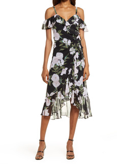 Chelsea28 Flounce Wrap Midi Dress