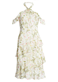 Chelsea28 Halter Ruffle Midi Dress