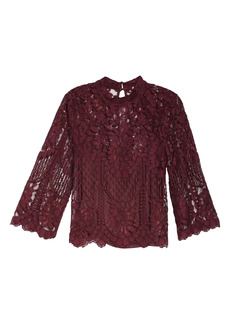 Chelsea28 Lace Long Sleeve Top