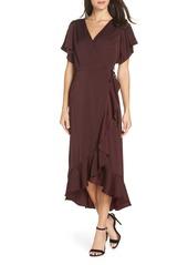 Chelsea28 Midi Ruffle Wrap Dress