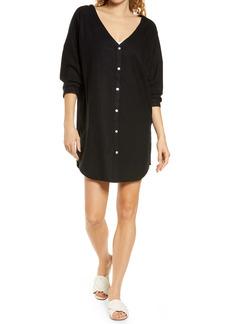 Chelsea28 Oversize Linen Blend Cover-Up Shirt