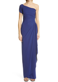 Chiara Boni La Petite Robe Aleksandrina One-Shoulder Column Gown