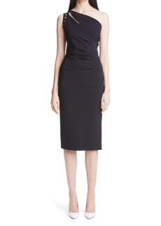 Chiara Boni La Petite Robe Amee Ruched One-Shoulder Cocktail Dress