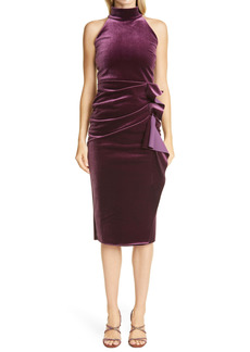 Chiara Boni La Petite Robe Gudrum Velvet Halter Cocktail Dress