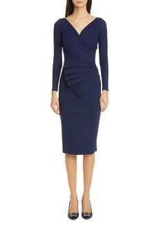 Chiara Boni La Petite Robe Kaya Long Sleeve Ruffle Cocktail Dress
