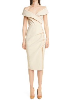 Chiara Boni La Petite Robe Off the Shoulder Cocktail Dress