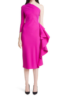 Chiara Boni La Petite Robe Sia Ruffle One-Shoulder Cocktail Dress