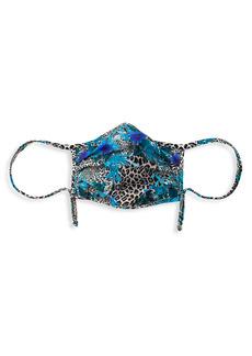 Chiara Boni La Petite Robe Flower & Leopard-Print Face Mask