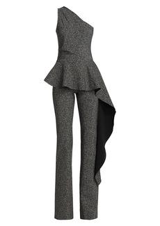 Chiara Boni La Petite Robe Kincsco Houndstooth Peplum Jumpsuit