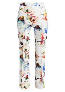 Chiara Boni La Petite Robe Nuccia Floral Stretch Jersey Crop Pants
