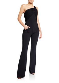 Chiara Boni La Petite Robe One-Shoulder Sleeveless Jumpsuit
