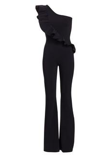 Chiara Boni La Petite Robe One-Shoulder Solid Jumpsuit