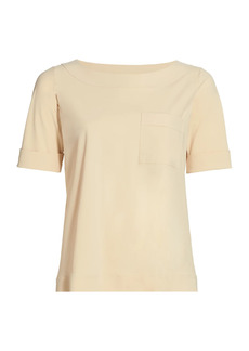 Chiara Boni La Petite Robe Trifonia Short-Sleeve Patch-Pocket Top