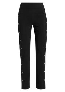 Chiara Boni La Petite Robe Veerle High-Waist Side-Snap Pull-On Pants