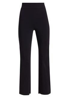 Chiara Boni La Petite Robe Venusette High-Waist Straight-Leg Pull-On Pants