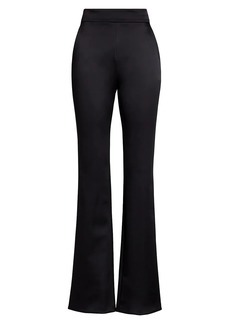 Chiara Boni La Petite Robe Venusette Satin Wide-Leg Pants