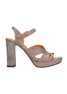 Chie Mihara Canina-l Sandals In Taupe Suede