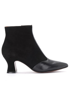 Chie Mihara Vuka Ankle Boot In Black Suede And Leather