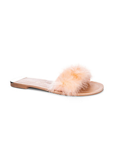 Chinese Laundry Zoey Faux Feather Slide Sandal (Women)