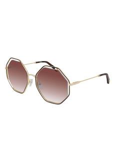 Chloé 53mm Gradient Octagon Sunglasses