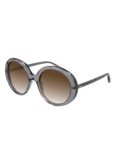 Chloé 54mm Gradient Round Sunglasses