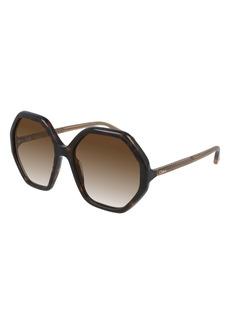 Chloé 58mm Gradient Round Sunglasses