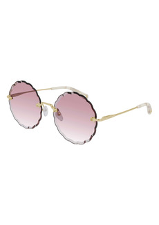 Chloé 60mm Gradient Round Sunglasses