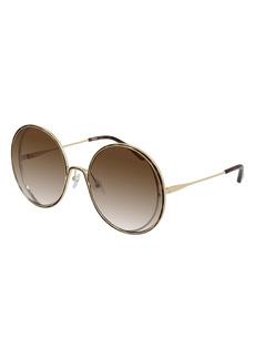 Chloé 61mm Gradient Round Sunglasses