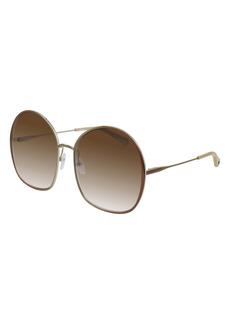 Chloé 62mm Gradient Oversize Round Sunglasses