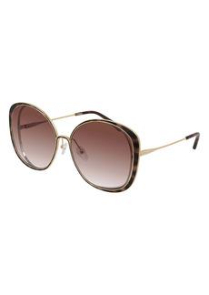 Chloé 63mm Gradient Oversize Round Sunglasses