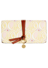 Chloé Alphabet Hearty Floral Print Leather Wallet