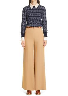 Chloé C-Jacquard Wool Blend Sweater