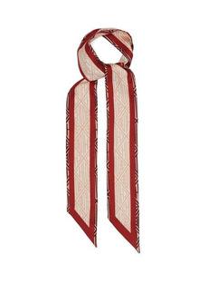 Chloé Charlie monogram-print silk-crepe scarf