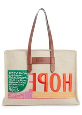 Chloé Corita Kent Embroidered Canvas Tote