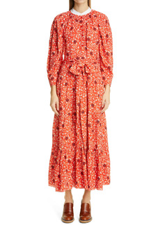 Chloé Floral Print Crepe Dress