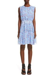Chloé Floral Print Silk Dress