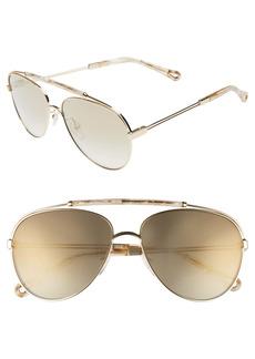 Chloé Jackie 59mm Aviator Sunglasses