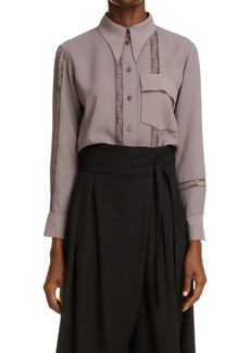 Chloé Lace Inset Button-Up Tunic