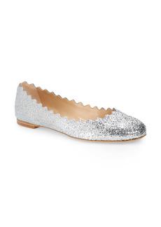 Chloé Lauren Glitter Scalloped Ballet Flat (Women)
