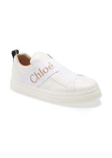 Chloé Lauren Logo Strap Slip On Sneaker (Women)