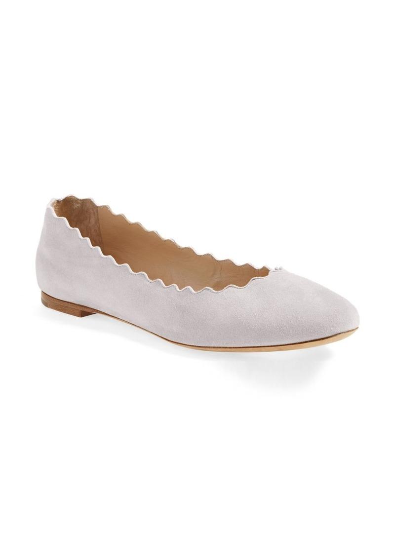 Chloé Lauren Scalloped Ballet Flat (Women)
