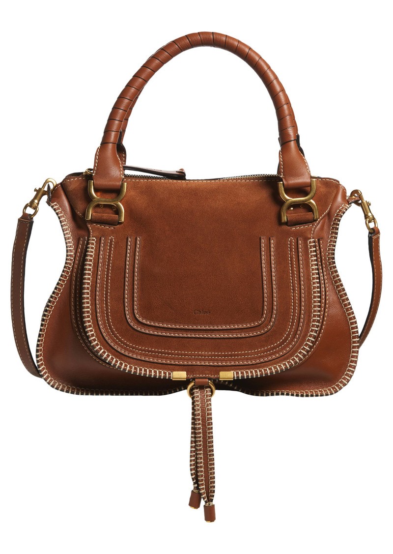 Chloé Medium Marcie Suede & Leather Shoulder Bag