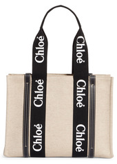 Chloé Medium Woody Logo Strap Canvas Tote (Nordstrom Exclusive Color)