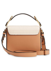 Chloé Mini C Tricolor Croc Embossed Leather Shoulder Bag