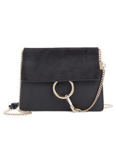 Chloé Mini Faye Suede & Leather Crossbody Bag
